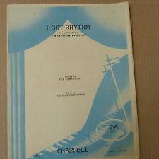 """Canción Hoja I Got Rhythm """"Rhapsody In Blue"""" Ira + George Gershwin 1930"""