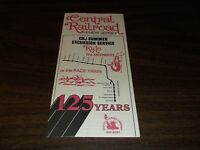 1974 CNJ CENTRAL OF NEW JERSEY MERMAID SUMMER EXCURSION PUBLIC TIMETABLE