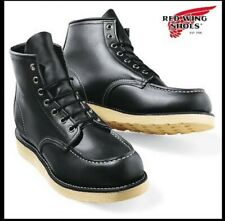 RED WING classic black work boots shoes leather 43 / 9 / 10 8130 moc toe safety