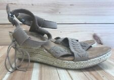 d5f86572851a Minnetonka Shoes Size 10 Espadrille Wedges Tan Suede Leather Fringe Sandals