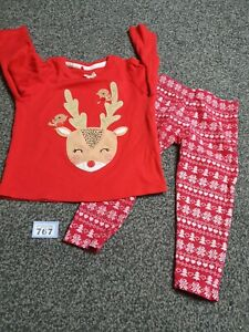 Girls 2-3 Years Christmas Leggings And Long Sleeve Top (B767)