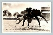 RPPC Another Cowboy Hits The Dust, Cowboy, Horse, Real Photo Postcard