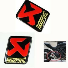 2PCS AKRAPOVIC Motorcycle Exhaust Pipe Sticker Aluminum Heat Resistant Decal