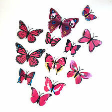 12 Various Purples & Different Size Butterflies 3D WallArt