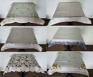 Amazing Square Tablecloths Table Runners 85x85cm Living Dining Room Kitchen New