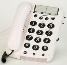 Geemarc Dallas 10 Big Button White Corded Telephone