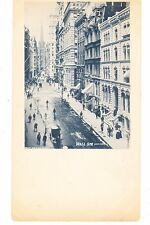 Wall Street Private Mailing Card By Rost Of New York City