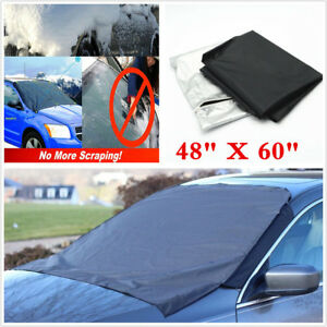 Car Windshield Snow Sun Cover Tarp Ice Scraper Frost Dust Removal SUV Truck Van