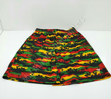Warrior Wlsb351 Youth Hawaiian Shorts Large Black Green Red Yellow Lacrosse