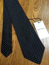 Paul Smith cravate noire MAINLINE blanc rare motif de diamant 100/% soie fabriqué en italie