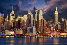 STUNNING NEW YORK CITY SKYLINE CANVAS #493 MANHATTAN WALL HANGING ART PICTURE