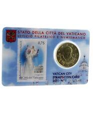 Vatican coin card 2011 ( pièce de 50cts + timbre 2011 )