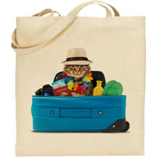 """CS Funny /""""handy cat/"""" with tool belt etc  cotton shopping//shoulder//beach//tote bag"""