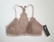 389c134869 NWT Abercrombie Bralette Dusty Rose Lace Front Closure Adjustable Strap XS