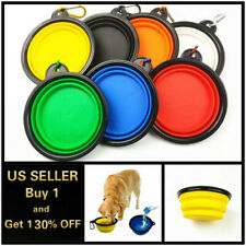Pet Supply Feeding Bowl Collapsible Pet Cat Dish Water Feeder Silicone Dog Pet