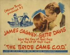 THE BRIDE CAME C.O.D. Movie POSTER 22x28 Half Sheet James Cagney Bette Davis