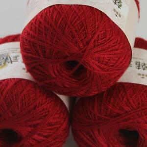 50gX3Balls Thread No.8 Cotton Crochet Yarn Craft Tatting Hand Knit Embroidery 13