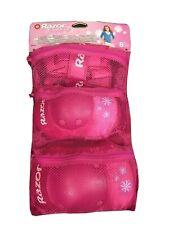 Girls Razor Multi-Sport Knee and Elbow Pad Set Pink Children 8+