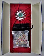 Swarovski Crystal 2001 Green Marguerite and 3 Yr Mini Marguerites Renewal Gifts