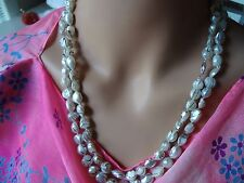 "BLACK AND WHITE PEARL  NECKLACE 50"" LONG"