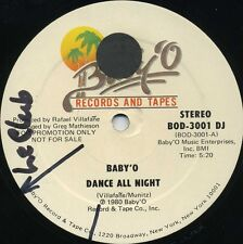 BABY'O Dance All Night b/w Your Eyes (1980 U.S. Promo 12inch) * TOTO