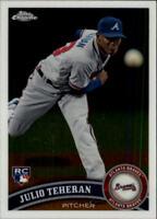 2011 Topps Chrome Baseball #197 Julio Teheran RC Atlanta Braves