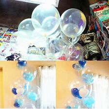 "100 pcs Clear 12"" Birthday Wedding Party Decor Latex Pearl Transparent Balloons"