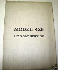 ORIGINAL ROCK-OLA MODEL 426 117 VOLT SERVICE SCHEMATICS