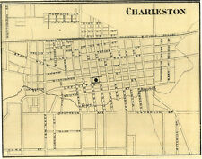 Charleston Illinois Coles Co IL 1876 Map  Genealogy