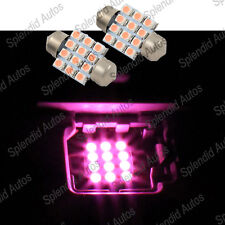 31mm 3175 Xenon BRIGHT PINK LED LIGHT 12SMD Festoon Map Dome (2 Pieces)