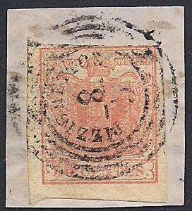 LOMBARDO VENETO 1851 - 15 c. n. 5 PIZZIGHETTONE p. 9 € 445