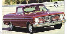 1965 Ford Falcon Ranchero PickUp Spec Sheet / Brochure