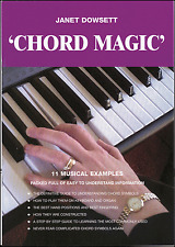 Chord Magic Janet Dowsett Learn Keyboard Organ Chord Symbols Beginner Music Book