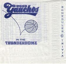 UCSB Gauchos--1997-98 Basketball Napkin Schedule--Channel Paper