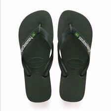 Havaianas Mens Brasil Logo Flip Flops Green Olive