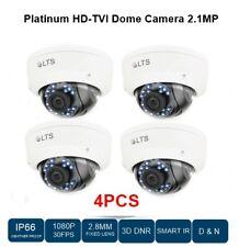 4LOT HD-TVI DOME CAMERA 2.1MP WHITE, 2.8MM FIXED LENS, SMART IR, DAY&NIGHT CCTV