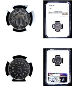 1871 5C PR65 NGC- Shield Nickel---