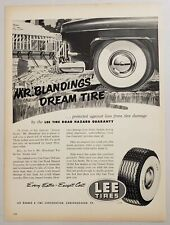 1952 Print Ad Lee Tires with Tire Road Hazard Guaranty Conshohocken,Pennsylvania