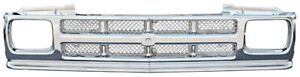 91-93 Chevy S10 91-94 S10 Blazer Custom All Chrome Plastic Grille w/Mesh