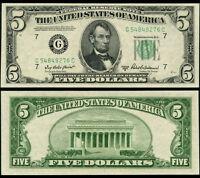 FR. 1963 G $5 1950-B Federal Reserve Note Chicago G-C Block Choice CU+