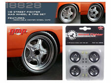 GMP 18828 1:18 SET OF 4 STREET FIGHTER WHEEL & TIRES / RIMS FURIOUS 7