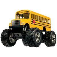 "New 5"" Kinsfun Yellow School Bus Big Wheel Monster Diecast Model Toy Kids Gift"