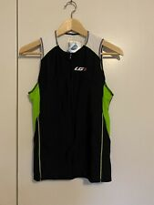 Louis Garneau Comp Sleeveless Triathlon Cycling Top Black/Green M BNWT Jersey