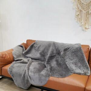 5.6'x4.6' Large Australian Sheepskin Rug Natural Fur Curly Warm Shaggy Carpet