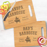 Personalized Dad/Grandpa Barbecue Bamboo Cutting Board