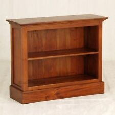 Timber Bookcase Low, Solid Timber, Mahogany, Light Pecan Brown