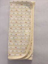 "Gerber Organics Thermal Yellow Stripe Baby Receiving Blanket 28""x32"" VGUC"