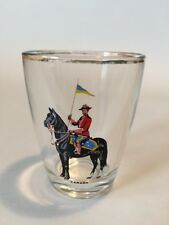 Vintage ROYAL CANADIAN MOUNTED POLICE Shot Glass-Free Shipping