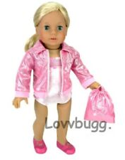 Lovvbugg Pink Gymnastics 3 pc for 18 inch American Girl Doll Clothes Found IT!
