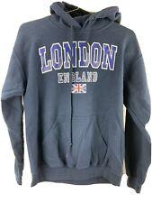 London England Flag Hoodie Jacket Men's Size S